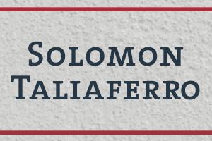 The Naming Project: Solomon Taliaferro