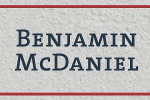 The Naming Project: Benjamin McDaniel